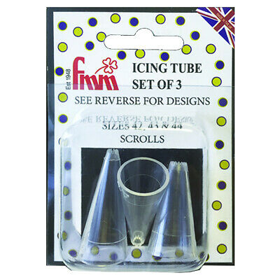 FMM Piping Icing Decoration Decorating Sugarcraft Scrolls Nozzle Tip Set