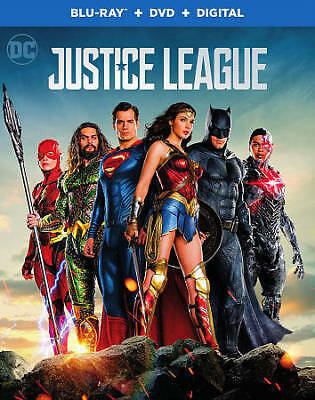 Justice League (Blu-ray/DVD, 2018, 2-Disc Set)