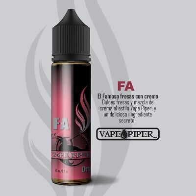 "E-liquid Vape Piper ""FA""  50ml - 0mg - BOOSTER + NICOKIT 10ml 20mg  VAPER EJUICE"