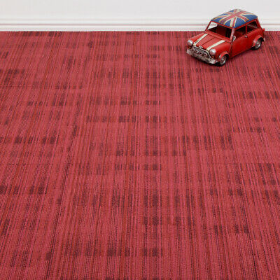Tessera Quality Office Carpet Tiles - Striped Pattern - Red - 4m2