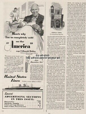 1951 SS America United States Lines C. Donald Dallas Cruise Ship Ocean Liner Ad