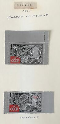 Russia 1961 Silver Foil  Space. Overprint + Regular Values. Mh Og.