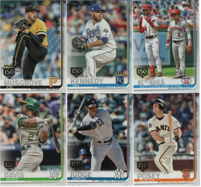 2019 Topps Series 1 Baseball - 150th Anniversary Gold Stamp - Choose #'s 1-350