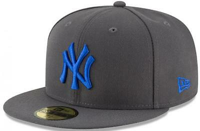 New Era New York Yankees League Essential Graphite 59fifty Fitted Cap MLB