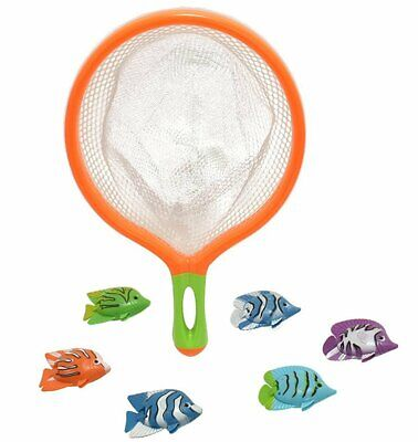 Catch The Fish Dive Game Bath Toy Kids Net & Floating Fishing Novelty Game Fun