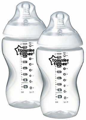 Tommee Tippee CLOSER TO NATURE BOTTLE 340ML X2 Baby Feeding - NEW