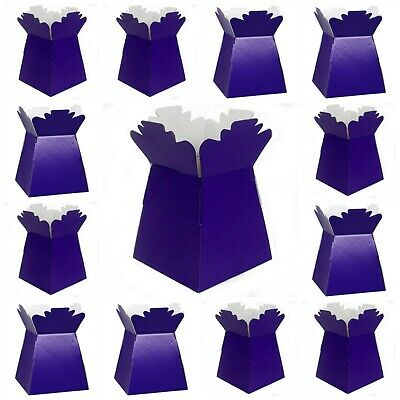 CADBURY PURPLE Living Vases Florist Bouquet Box Flower Plant Aqua Sweet Boxes UK