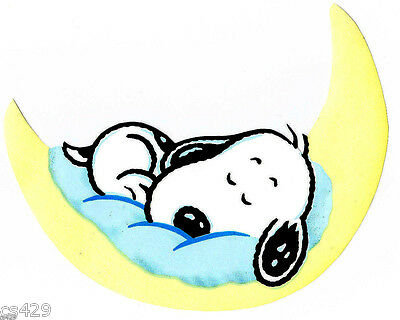 6 baby snoopy on moon prepasted wall border cut out character picclick - Snoopy wallpaper for walls ...