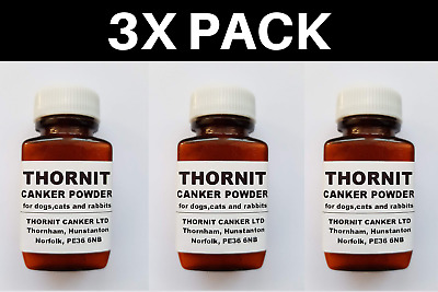 Thornit Canker Powder 3X 20g - Dogs Cats Rabbits Ear Mites Treatment Solution