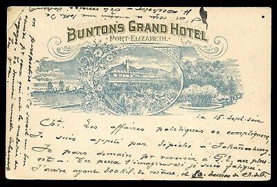 Cape Of Good Hope 1899 Victoria Buntons Grand Hotel Taxed Post Card /europe.a446