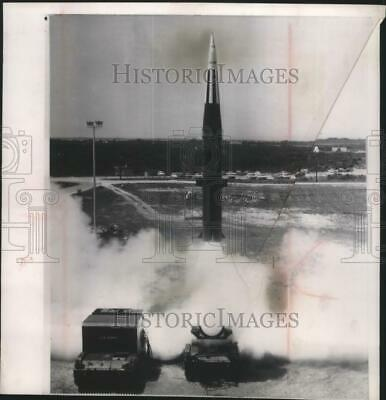 1963 Press Photo Pershing Missile Launches - mjm04652