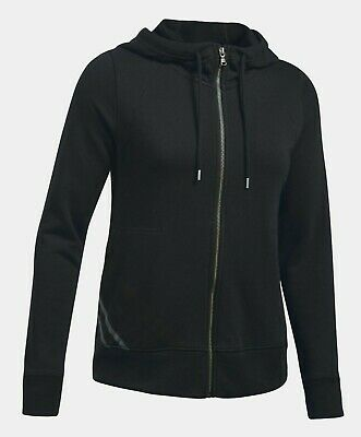Under Armour Women's Black UA French Terry Full Zip Hoodie