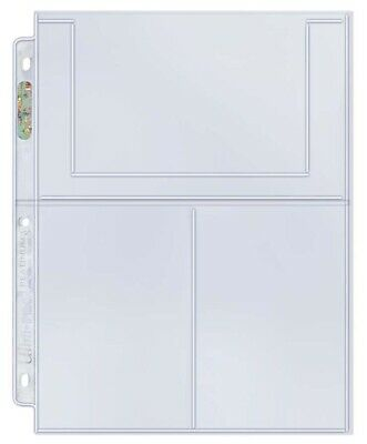 (25) Ultra Pro 4x6 Photo Postcard 3-Pocket Album Binder Pages Index Cards Prints