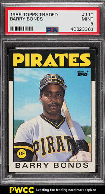 1986 Topps Traded Barry Bonds ROOKIE RC #11T PSA 9 MINT (PWCC)
