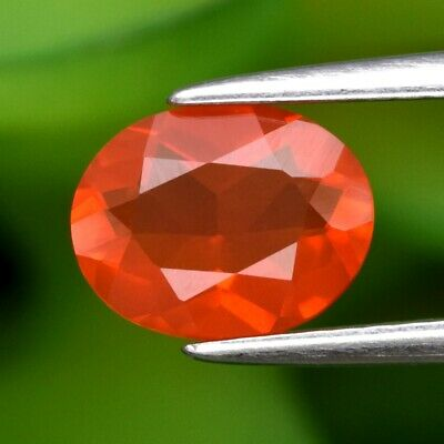 0.88ct 7.8x6mm Oval Natural Orange Fire Opal, Mexico