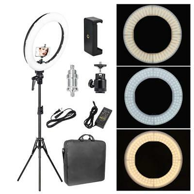 Zomei 18'' Dimmable LED Ring Light 5500K & light stand for Makeup YouTube Live