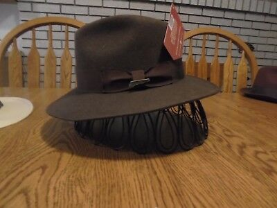 c3861c011d7 Indiana Jones Men s Water Repellent Wool Felt Outback Crushable Wool Hat  LARGE