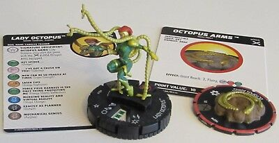 LADY OCTOPUS 049 & OCTOPUS ARMS S004 Earth X Marvel HeroClix Super Rare