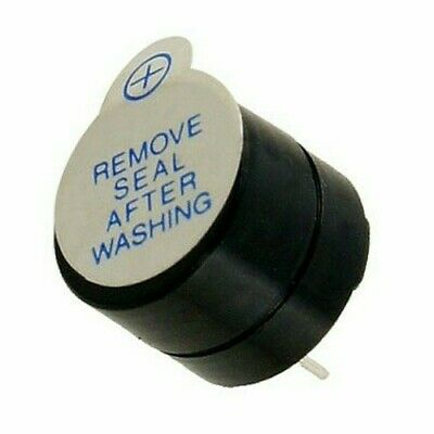 50 Pack - 6 Volt DC Continuous Sound Buzzer, 12mm, 2 Pin Terminal