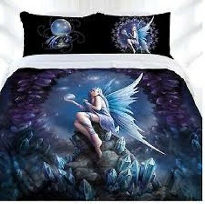 ANNE STOKES STARGAZER FAIRY CRYTALS MYTHICAL Double Bed Quilt Doona Duvet Cover