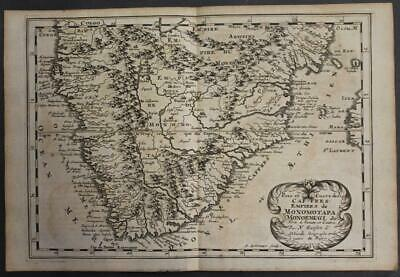 South Africa Namibia 1683 Sanson Uncommon Antique Original Copper Engraved Map