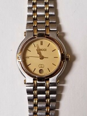 93f4b093d79 Authenti Gucci 9000L Swiss Made Ladies Gold Stainless Luxury Watch. Works  Great!