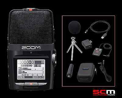 ZOOM H2N 4 TRACK HANDY RECORDER With ACCESSORY PACK & STEINBERG SOFTWARE