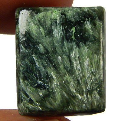 17.65 Cts Natural Green Seraphinite Octagon African Gemstone Loose Cabochon