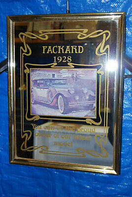 Vintage 1980's Bar Display Mirror - Packard 1928 - Advertising Sign
