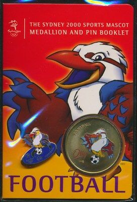 "Australia: 2000 Olympic Football Medallion & Pin ""Olly"" Sports Mascot Booklet"