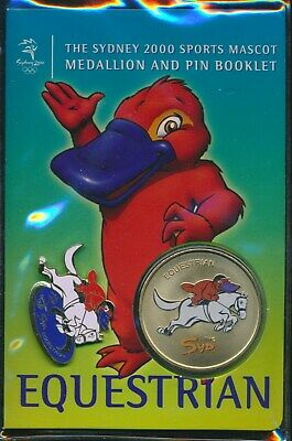 "Australia: 2000 Olympic Equestrian Medallion & Pin ""Syd"" Sports Mascot Booklet"