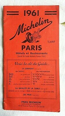 Guide MICHELIN rouge PARIS 1961 = Rare et en excellent état