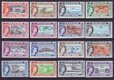 Bahamas 1964 SC 185-200 MNH Set New Constitution
