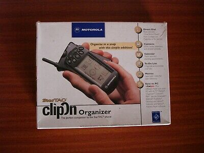 Motorola StarTAC clipOn Organizer Model 98170 Version 1.0 Vintage Collection