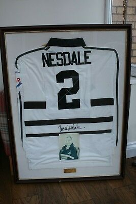 Ross Nesdale Match Worn Newcastle Falcons 1998 Signed Framed Ireland Player