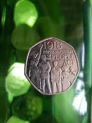 2018 Representation of The People Act 1918 UK 50p Coin - Rare
