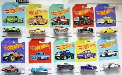 2019 Hot Wheels American Pickups Ford Dodge Chevy Walmart Only - You Pick