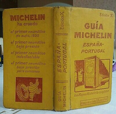 Guide MICHELIN jaune (Guia Michelin) ESPANA-PORTUGAL 1929 - Edicion X