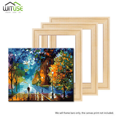 Canvas Stretcher Bars Frames Assembly Wooden Strip Kits Oil Painting Prints DIY