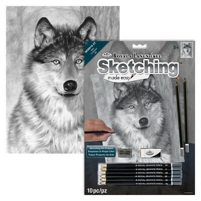 Alpha ( Wolf ) - SKBN18 Royal & Langnickel Sketching Made Easy