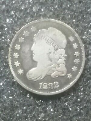1832 U.S. Capped Bust Half Dime 5 Cents Silver Coin - Higher Quality