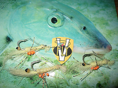 Details about  /3 V Fly Size 2 Ultimate J C Weed Guard Alphonse Flexo Crab Saltwater Flies