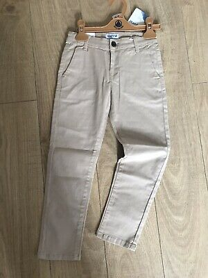 BARGAIN DESIGNER SALE MAYORAL chino Slim trousers Age 6 Rrp £22.99 Bnwt Beige