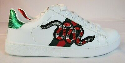 7d9bfdf149f GUCCI ACE EMBROIDERED Snake Shoes Sneakers Women s Size 8.5 Men s ...