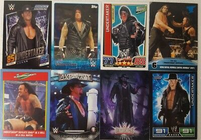 WWE  The UNDERTAKER  trading Card LOT   US + UK no doubles