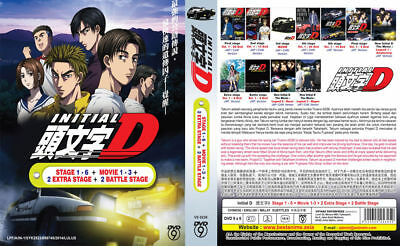 DVD Initial D Stage 1-6 +2 Extra Stage +2 Battle Stage +3 Movie ( English Sub)