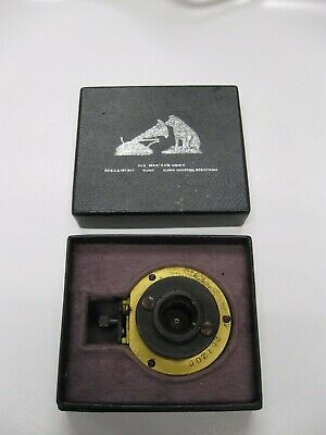 Gold Plated Victor Exhibition reproducer with the round hole- in Original Box