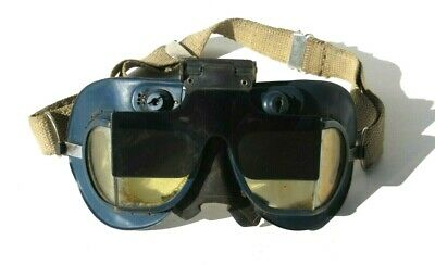 ORIGINAL WW2 RAF Royal Air Force Mark VII Flying Flight Goggles NICE