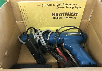 Vintage HeathKit Timing Light CL-1040 With Manual