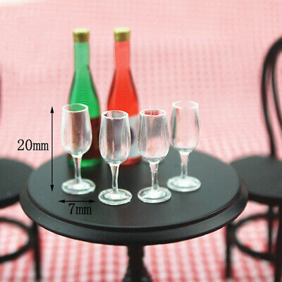 1/12 Dolls House Miniature Tableware Cup Wine Glass Juice Glass Goblet 4 pcs
